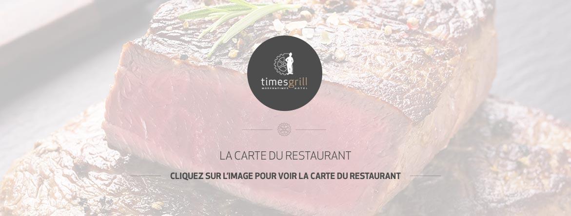 La carte du resturant | Moder Times Hôtel